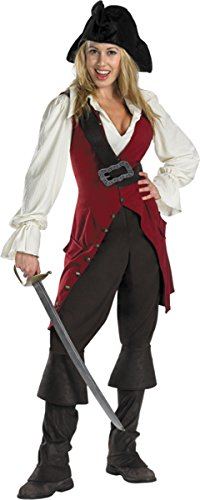 [Deluxe Elizabeth Pirate Costume - Large - Dress Size 12-14] (Elizabeth Deluxe Adult Costumes)
