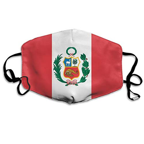Crystal Goforth Peru Flag Respirable Safety Masks Dust-Proof Antibacterial Washable for Men and Women Suitable for Outdoor Sports Etc
