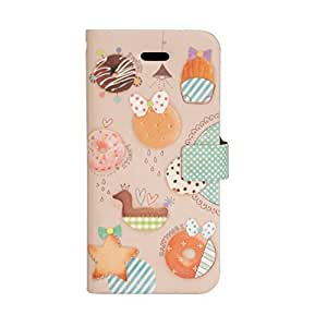Happymori Mobile Flip Case Cover Leather Design for Apple iPhone 5/5S HDT SweetParty - Cookie HM-DT172