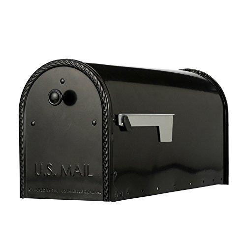 Gibraltar Mailboxes EM160B00 Edwards Rural Mailbox, Large, Black ()