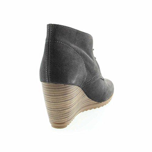 ESPRIT H10916 064 Tayla Lu Wedge - Botas para mujer Dunkel-Grau