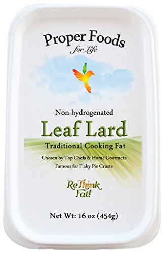 Leaf Lard — Premium, Non-Hydrogenated — Pure Pork Leaf Lard — Pasture Raised — Cooking & Baking — 16 oz.