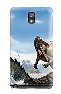 New Style 3885245K96184977 Special Skin Case Cover For Galaxy Note 3, Popular Dinosaur Phone Case