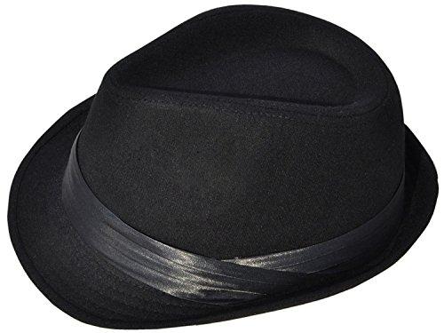 Men / Womens Classic Short Brim Manhattan Tilby Fedora Hat , Black