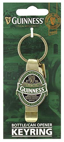 Guinness St James Gate Label Bottle Opener Key Ring