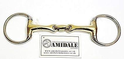 5.00 Amidale Eggbut Snaffle Horse Bit,Copper Mix,Stainless Steel German Steel Bit