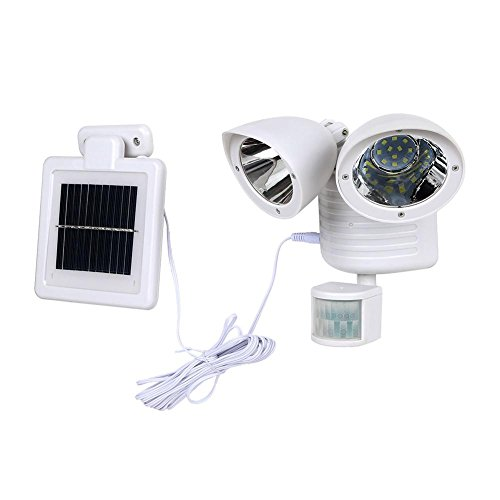 ForU-1 22 LED Dual Detector Solar Lamp Outdoors Motion Sensor Security Wall Lights