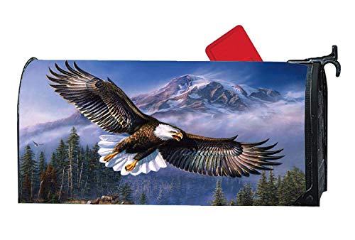 BYUII Eagle Flight Raptor Bird Animal Humor Funny Mailbox Cover Magnetic, Decorative Mailbox Wrap for Standard Mailbox,Vinyl Postbox Cover 18