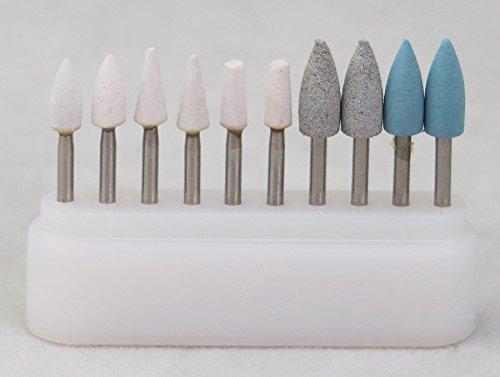 6pcs Stone FG+4pcs Silicone FG Burs Composite Polishing Kit for High (High Speed Kit)