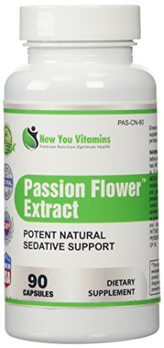 Passion Flower Potent Natural Sedative Stress Support Passion Flower Extract 900mg 180 Capsules 2 Bottles