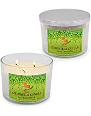 3-Wick Glass Jar Candles, 14oz Natural Soy Wax Candle with 60-70 Hours Burn