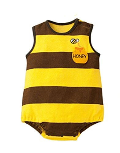 StylesILove Adorable Photo Prop Costume Baby Clothes (6-12 Months, Bumble Bee) (Infant Bumble Bee Costume)