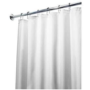 interdesign waterproof mold and fabric shower curtain extra long 72