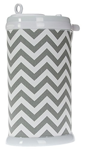 Sweet Potato Ubbi Diaper Pail Cover, Grey Chevron