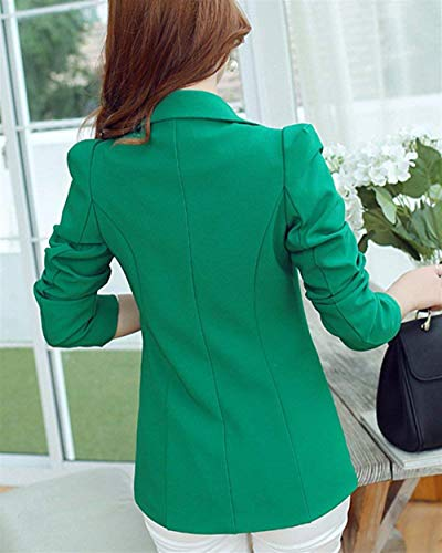 Business Slim Moda Giacca Tempo Primaverile Tasche Button Grün Colori Da Stlie Classica Con Grazioso Eleganti Lunga Solidi Autunno Blazer Manica Cappotto Tailleur Fit Libero Donna q4FRRXfx