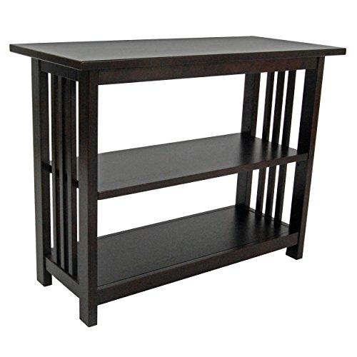 Mission Under Window Bookshelf with 2 Shelves, Espresso (26 Bookcase)