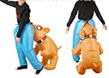 Inflatable Costume Adult Carry On Animal Halloween Suit (One Size, Bulldog)