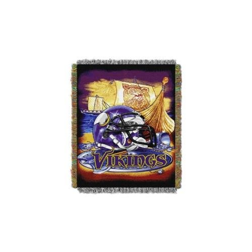 The Northwest Company Minnesota Vikings NFL Woven Tapestry Throw (Home Field Advantage) (48x60) (2-Pack)