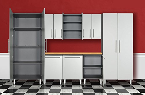 9-Pc Deluxe Cabinet Kit in Silver and Gray