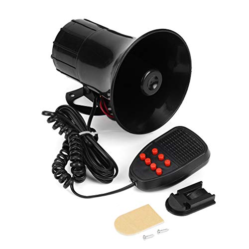 (12V 50W 125 Decibel 7-Sound Car Security Warning Alarm Speaker with Mic Police Fire Horn Loud Siren)