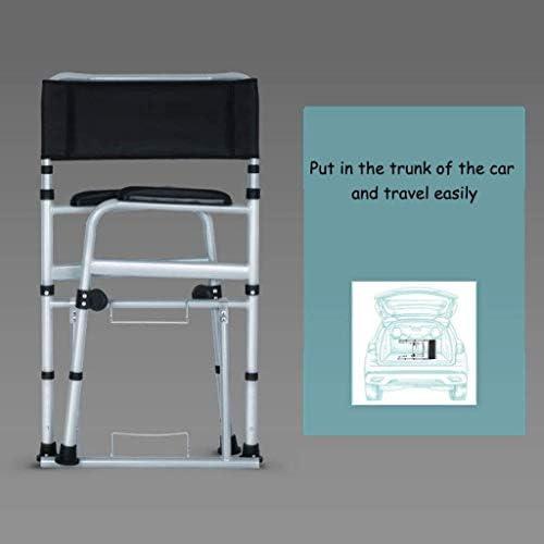 トイレ椅子 ポータブルトイレ 高齢者 折りたたみ式便器の椅子の携帯トイレ医療ベッドサイドトイレシャワーチェア防水モイスチャー