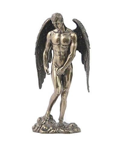 Bronzed Finish Nude Male Angel Statue Sculpture