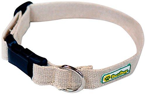 BallBoy-The-Natural-Collar-Hemp-1-by-16-26-Inch-Webbing-Dog-Collar-Large
