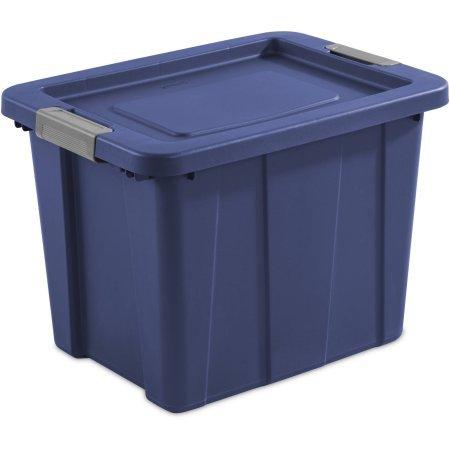 Case of 6 18-Gallon Latch Tuff1 Tote, Stadium Blue by Generic