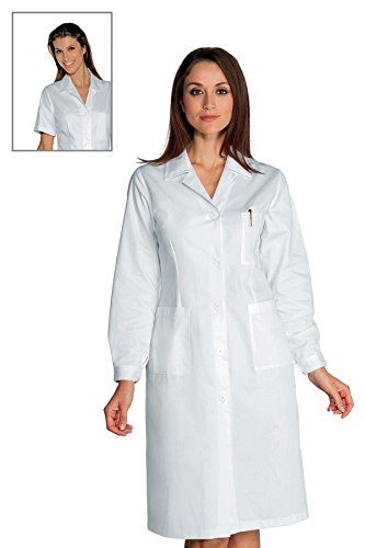 Bottoni Cotone Asola 18076 Manica Donna 100 Bianco Camice Con Lunga Isacco 3xl Bianco gxqwX8xC