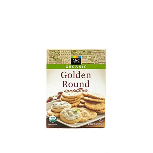 365 Organic Classic Golden Round Crackers 8 oz by Everyday (Image #1)