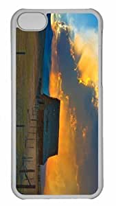 Customized iphone 5C PC Transparent Case - Country Barn Personalized Cover by mcsharks