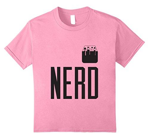 Funny Ups Costume (Kids Halloween Costume Nerd Shirt Cute Funny Adult & Kid Geeks 12 Pink)