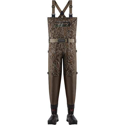 - Lacrosse Waders Alpha Swampfox Breathable Mossy Oak Bottomland 1000G (700087)| Waterproof | Insulated Modern Comfortable Hunting Combat Boot Best for Mud, Snow (Medium = 10)