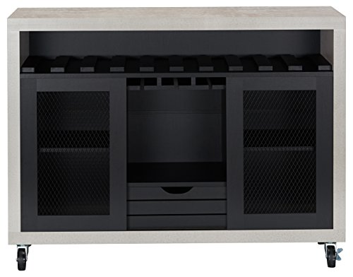 HOMES: Inside + Out FGI-1774C1 Vesta Buffet, Black/Cement