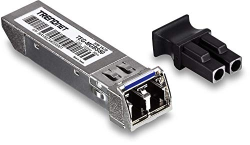 TRENDnet Mini-GBIC Single-Mode LC Module, Connect with a standard Mini-GBIC Slot, Up to 80 Km (49.7 Miles), Lifetime Protection, TEG-MGBS80