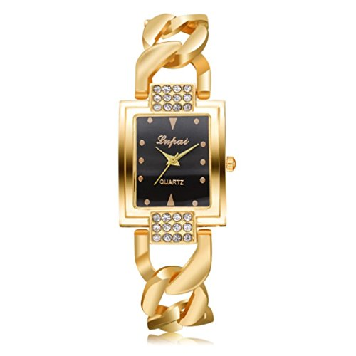 Gotd Sport Bracelet Wrist Watch for Women Dialmond Casual Quartz Band Strap Wholesale Luxury Fashion (Gold)