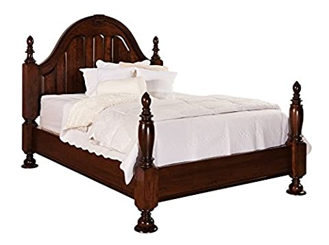 Amish Heirlooms Solid Oak Rosemont Collection Total Bed without Canopy for King Mattress, 88