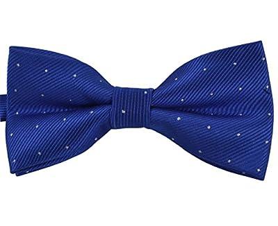 SYAYA Male Men's boy Classic Pre-Tied Formal Tuxedo Bowtie Polka Dot Jacquard Wedding Party Necktie Ties Adjustable Mens boys bow Tie MLJ23