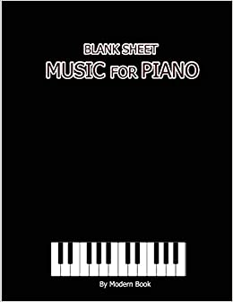 Amazon com: Blank Sheet Music For Piano: Treble Clef And