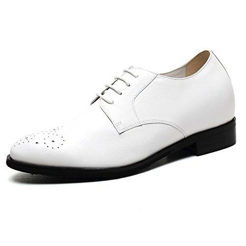 CHAMARIPA Chaussure à Talonnette Grandissante Pour Homme de Type Tuxedo Oxford Rehaussante Soulier Shoes 7 CM