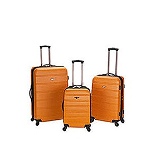 Dark Orange Lightweight Wheeled Briefcase, Solid Pattern, HardShell Design by DSOS