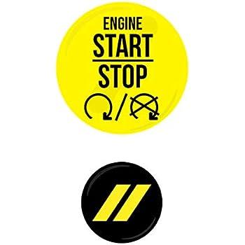 Challenger Charger Journey Starter Push Start Button Decal Emblem SRT Red Silver