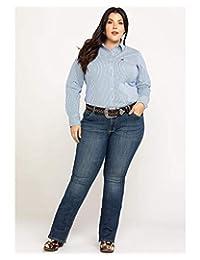 Wrangler Womens Plus Mid Rise Straight Jean Jeans