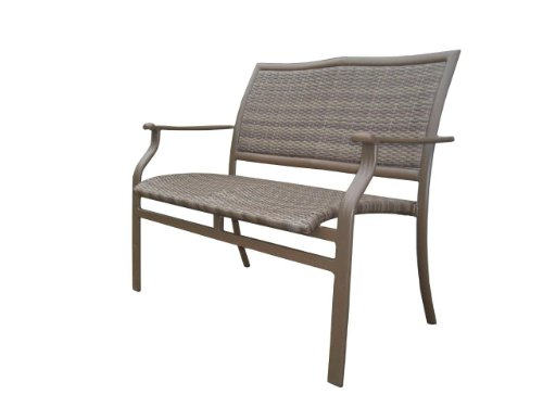 Panama Jack Outdoor Island Cove Woven Stackable Loveseat