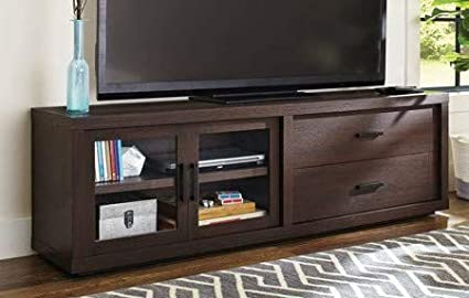 Amazoncom Tv Stand For 70 Inch Tv Espresso Wood With Adjustable