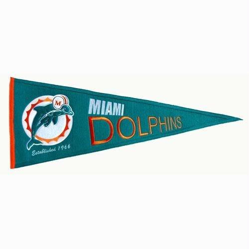 Miami Dolphins Pennant Felt (Miami Dolphins NFL Throwback
