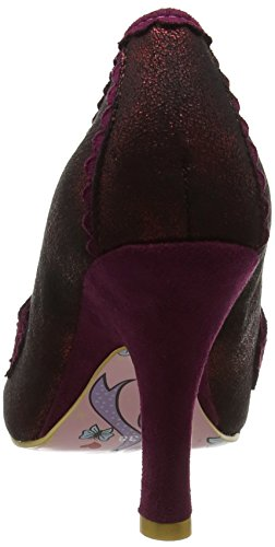Irregular Choice Doddle Dots, Scarpe Col Tacco Donna Red (Bordo)