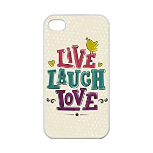 iPhone 5s Case Cute Dots Live Laugh Love Quote Birds iPhone 5s 100% TPU (Laser Technology)