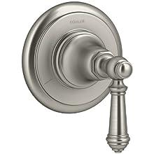 KOHLER T72770-4-BN Artifacts Transfer valve trim with lever handle, Less Valve, Vibrant Brushed Nickel