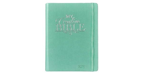 Amazon.com: KJV Holy Bible, My Creative Bible, Teal ...